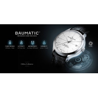Baume & Mercier Clifton Baumatic Herrklocka Vit & Läderband M0A10398