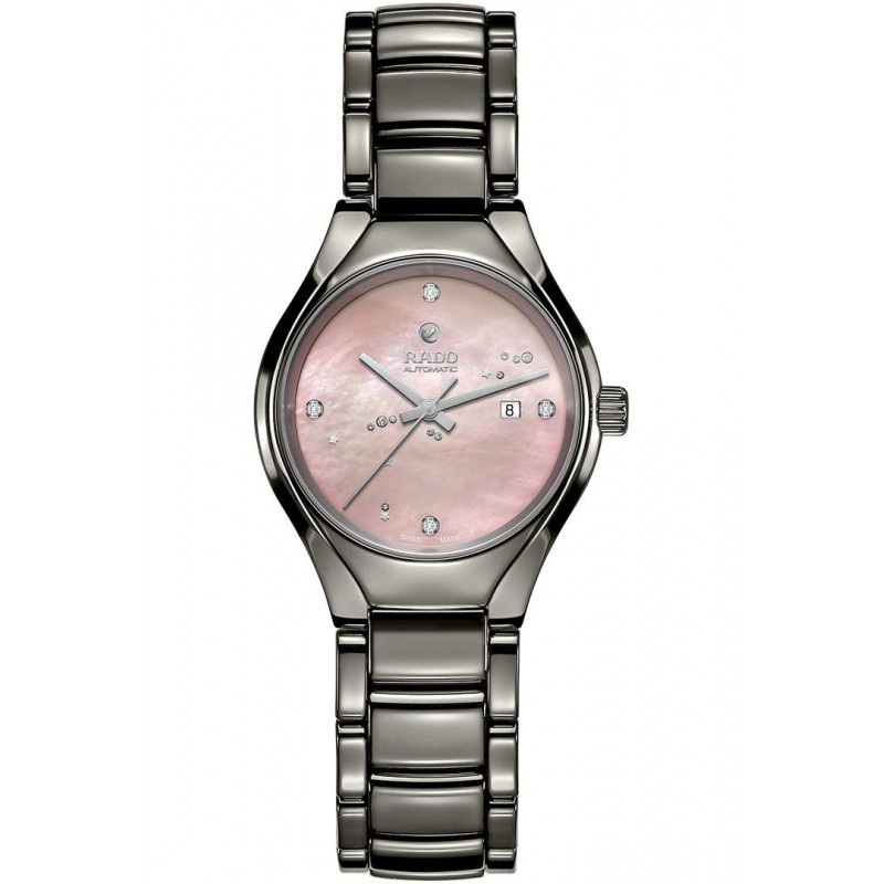 Rado True women's watch with pink dial & ceramic bracelet R27243832