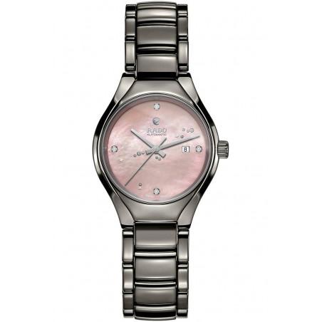 Rado True women's watch with pink dial & ceramic bracelet R27243832