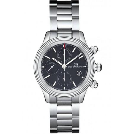 Sjöö Sandström - Royal Steel Chronograph Black & steel bracelet 011768