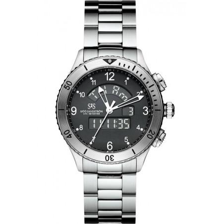 Sjöö Sandström - UTC SKYDIVER Quartz Gent's Watch Black & Steel 017388