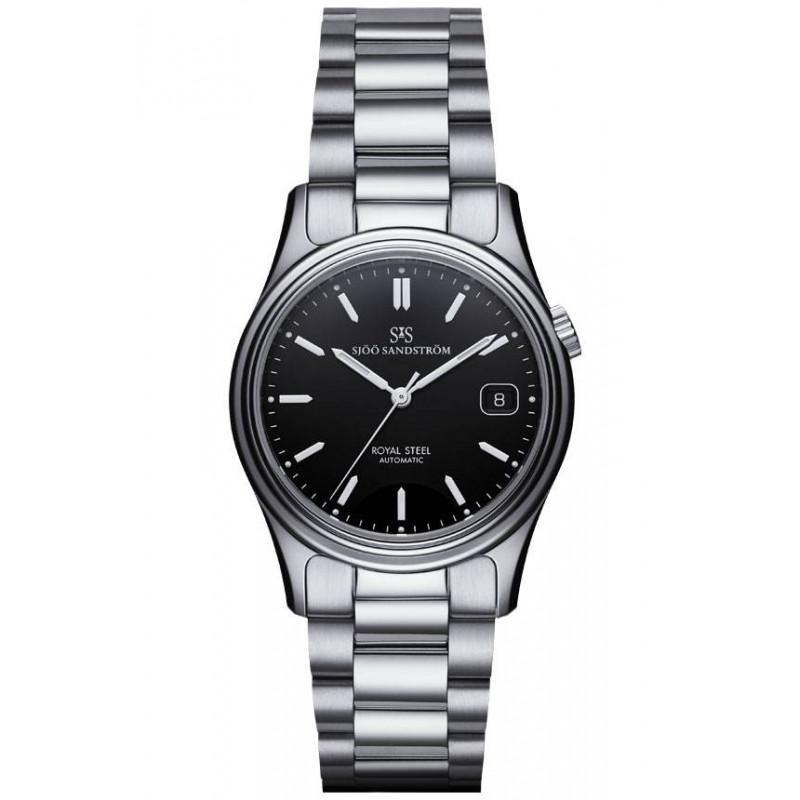 Sjöö Sandström Royal Steel Classic Black dial & bracelet 36 mm, 020173