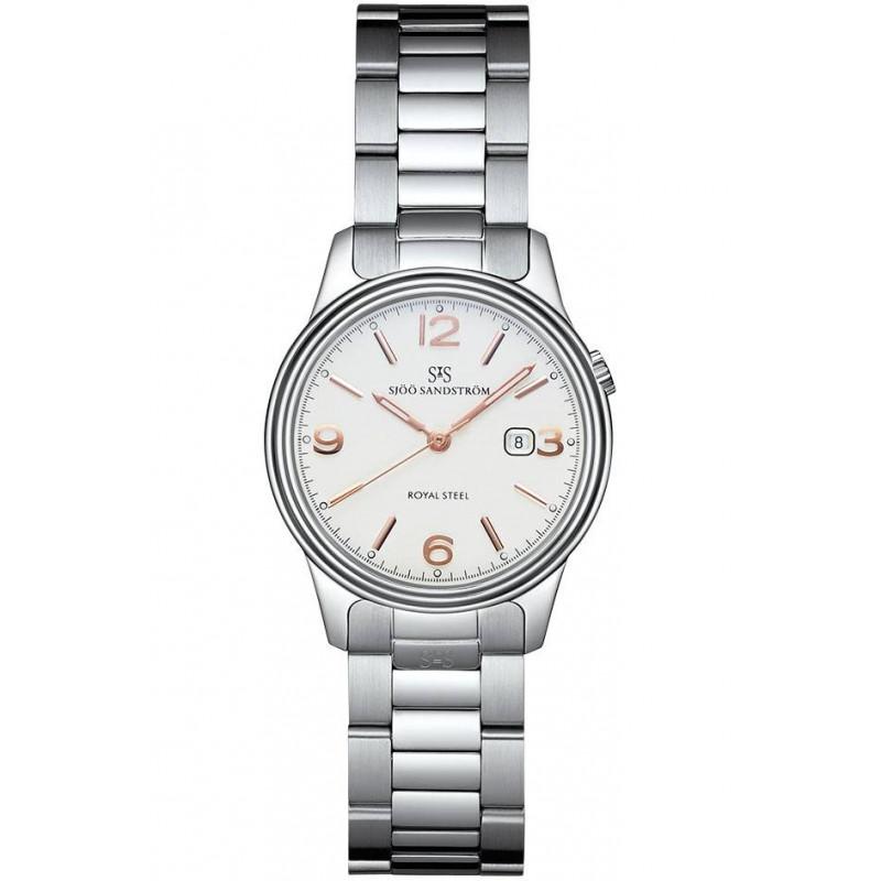 Sjöö Sandström Royal Steel Classic Lady's, White & Steel bracelet 32mm