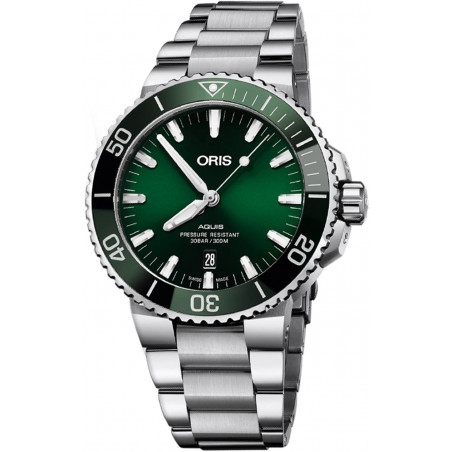 Oris - Aquis 39.5 mm Green Dial & Bracelet