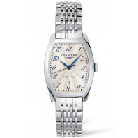 Longines - Evidenza Silver Flinque Steel Lady's Watch