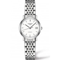 Longines - Elegant 25mm White Steel Lady's Watch