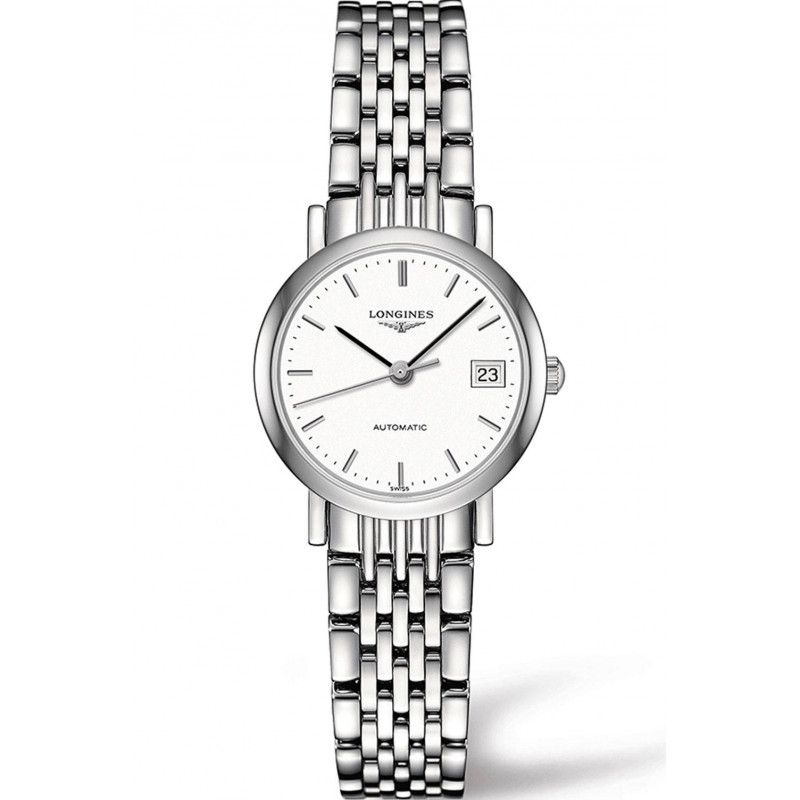 Longines - Elegant 25mm White Steel Lady's Watch