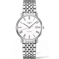 Longines - Elegant  White Steel Roman Numeral 37mm Gent's Watch