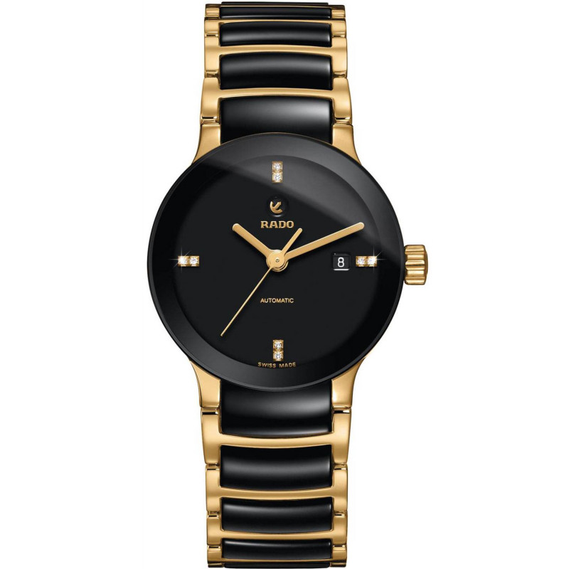 Rado - Centrix Automatic Black Ceramic Lady's Watch