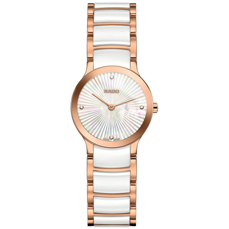 Rado - Centrix Quartz 23mm Lady White Ceramic & Diamonds