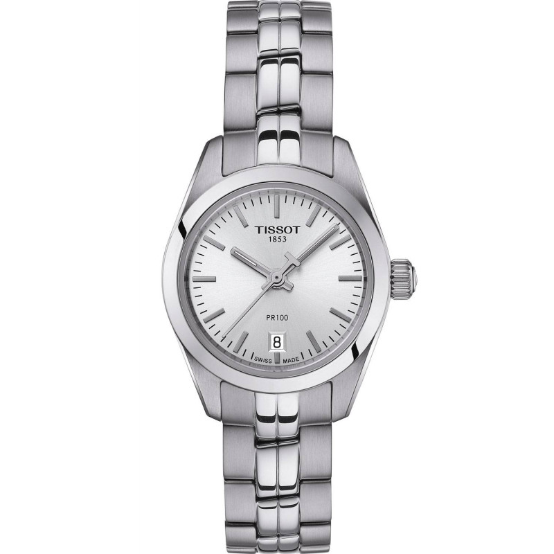 TISSOT PR100- Quartz Lady Silver & Steel Small