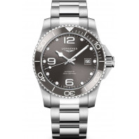 Longines - HydroConquest 41mm Grey Dial Ceramic & Steel Bracelet L37814766