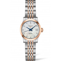 Longines -Record Pärlemor Diamant Rose Guld & Stål 26 mm