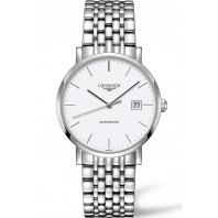 Longines - Elegant  White Steel 39mm Gent's Watch