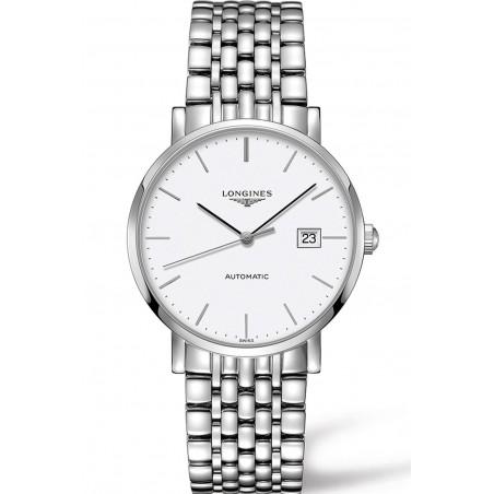 Longines - Elegant  White Steel 39mm Gent's Watch