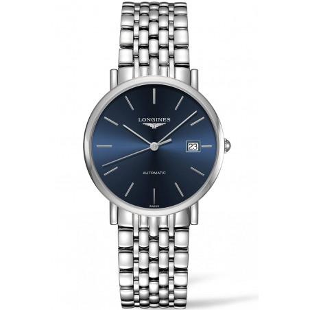 Longines - Elegant  Blue Steel 37mm Gent's Watch