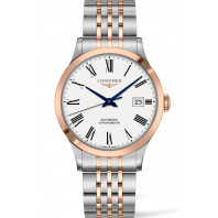 Longines - Record White Roman Numeral Rose Gold PVD 40mm