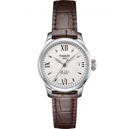 Tissot - Le Locle Automatic White  Steel & Leatherstrap Lady