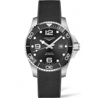 Longines - HydroConquest Keramisk ring & Gummiband Svart 41 mm