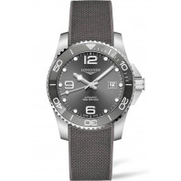 Longines - HydroConquest Keramisk ring & Gummiband Grå 41 mm