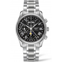 Longines - Master Full Calendar Moon Phase & bracelet Black 40 mm