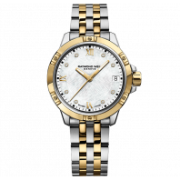 Tango Calssic- Lady 8 Diamonds MOP Steel & Gold PVD