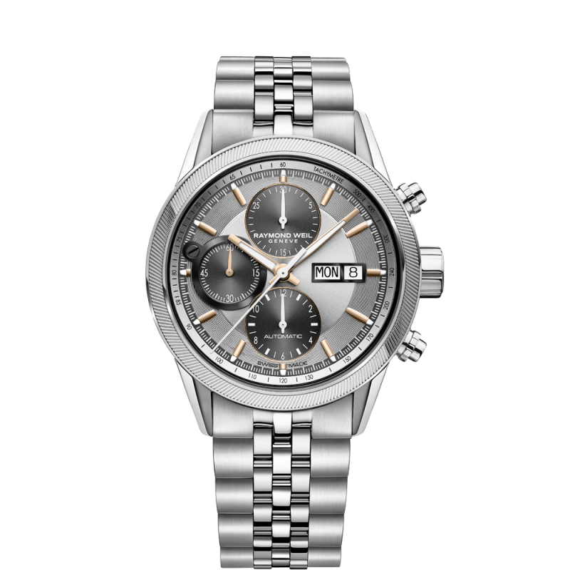 Raymond Weil - Freelancer 42mm Silver & Steel Chronograph Gent's Watch