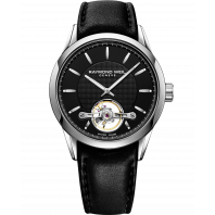 Raymond Weil - Freelancer Open Heart Black & Leather Gent's watch