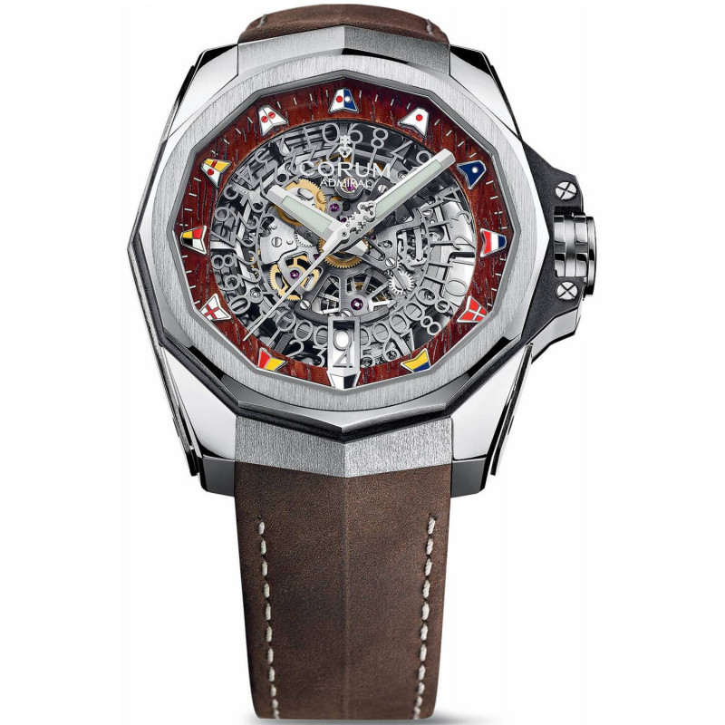 Corum Admiral's Cup Skeleton Titanium & Leather 45mm