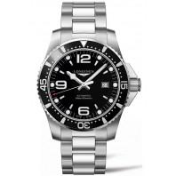 Longines - HydroConquest 44mm Black Dial & Steel Bracelet L38414566