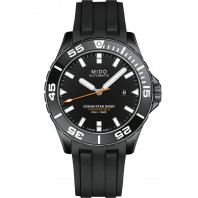 MIDO Ocean Star- COSC Black & Steel Balck PVD Rubber Gent's Watch