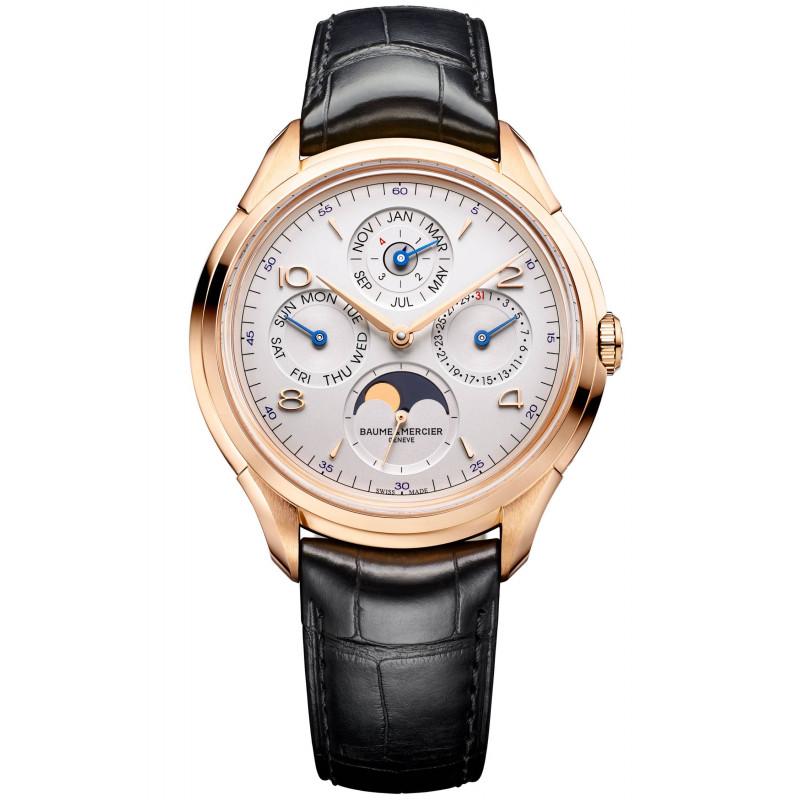 Baume & Mercier Clifton perpetual calendar Gold Mens Watch M0A10306
