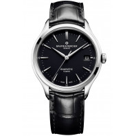Baume & Mercier Clifton Baumatic Black & Leather strap M0A10399