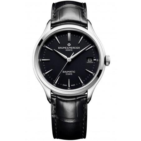 Baume & Mercier Clifton Baumatic Black & Leather strap M0A10399