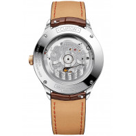 Baume & Mercier Clifton Baumatic White & Leather strap PVD M0A10401