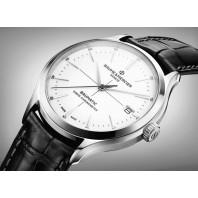 Baume & Mercier Clifton COSC Baumatic white & Leather strap M0A10436