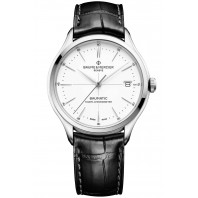 Baume & Mercier Clifton COSC Baumatic White & Leather strap M0A10436
