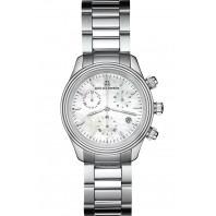 Sjöö Sandström - Royal Steel Chronograph, mother-of-pearl & bracelet