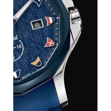 Corum Admiral Legend Small Second, 42 mm, Blue Wooden Dial, A395/03595