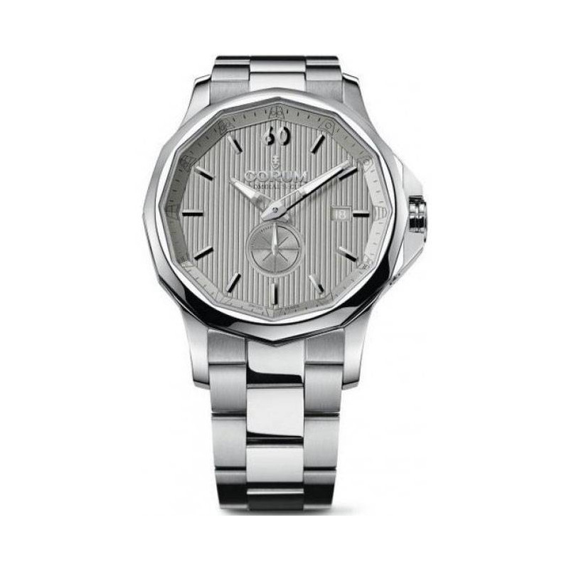 Corum Admiral Legend Small Second, Silver & Bracelet A395/01002