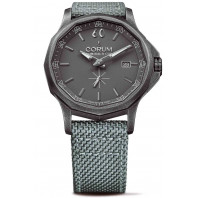 Corum Admiral Small Second 42 mm - Grå & Textil Band