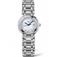 Longines PrimaLuna - Silver Steel Bracelet Lady's Watch