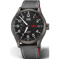 ORIS BIG CROWN PROPILOT- GMT REGA Limited Edition Stål Grå PVD & Textil 45mm