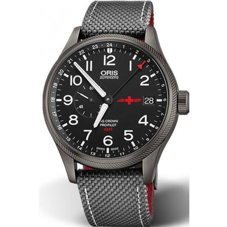 ORIS BIG CROWN PROPILOT- GMT REGA Limited Edition Steel Grey PVD & Textile 45mm