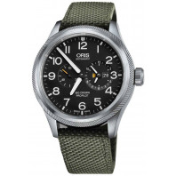 Oris - Big Crown ProPilot Worldtimer Grå & Grön Textil - 45mm