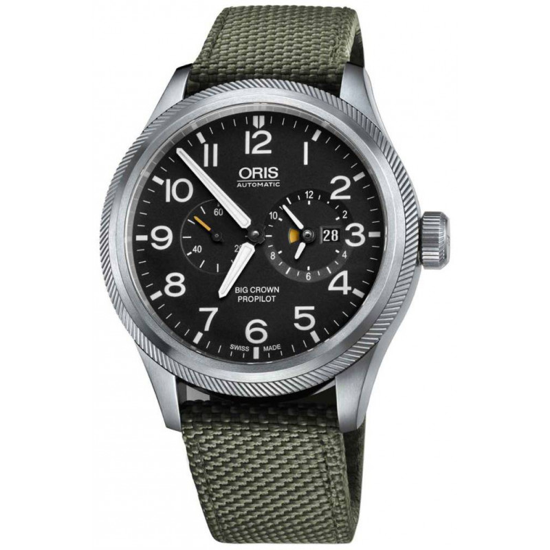 Oris - Big Crown ProPilot Worldtimer Grey & Green Textile - 45mm