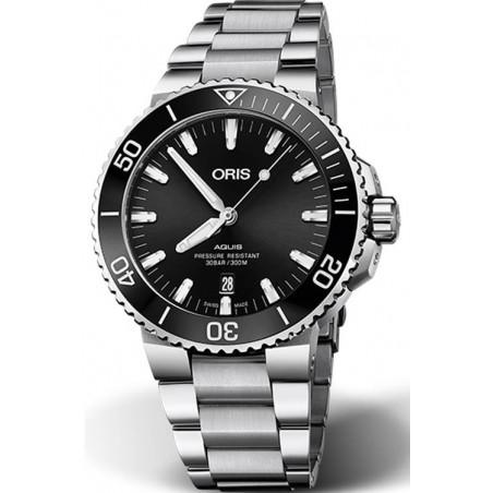 Oris - Aquis 39.5 mm Sunburst Black dial & rubber strap 733 7732 4134