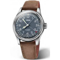 Oris Big Crown Pointer Date Blå & Läderband