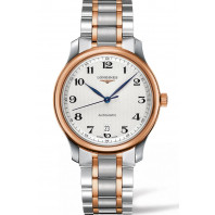 Longines - Master Automatic 38.5 mm White Steel & Rose Gold Pvd