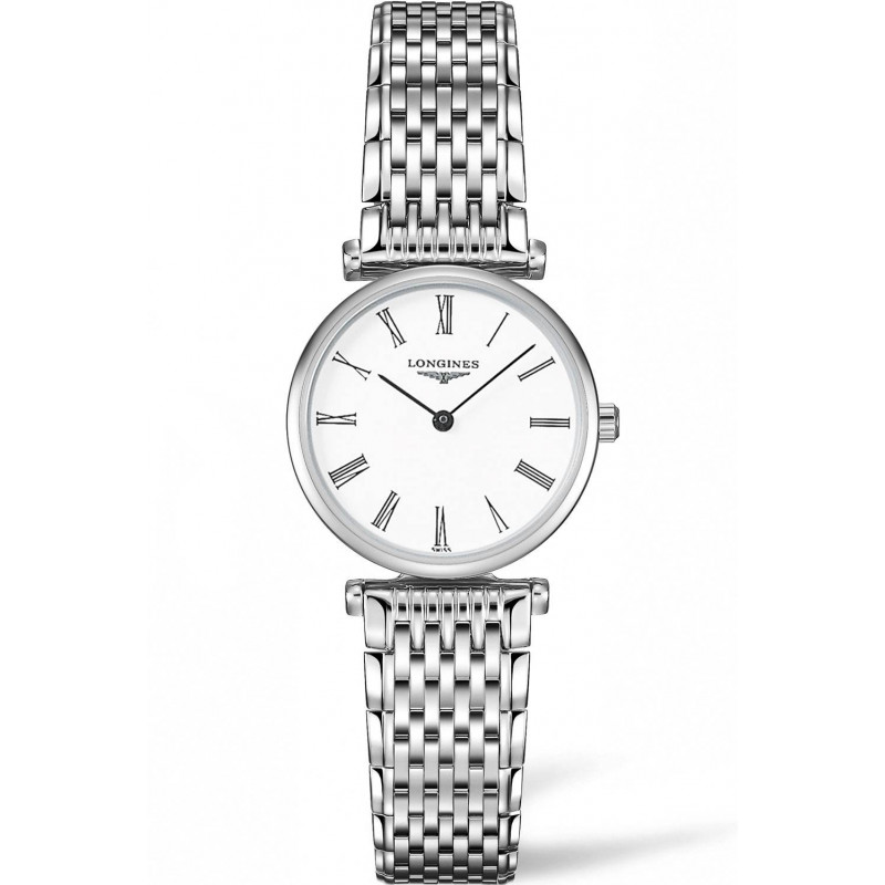 Longines La Grande Classique Roman Numeral Steel women's watch 24mm